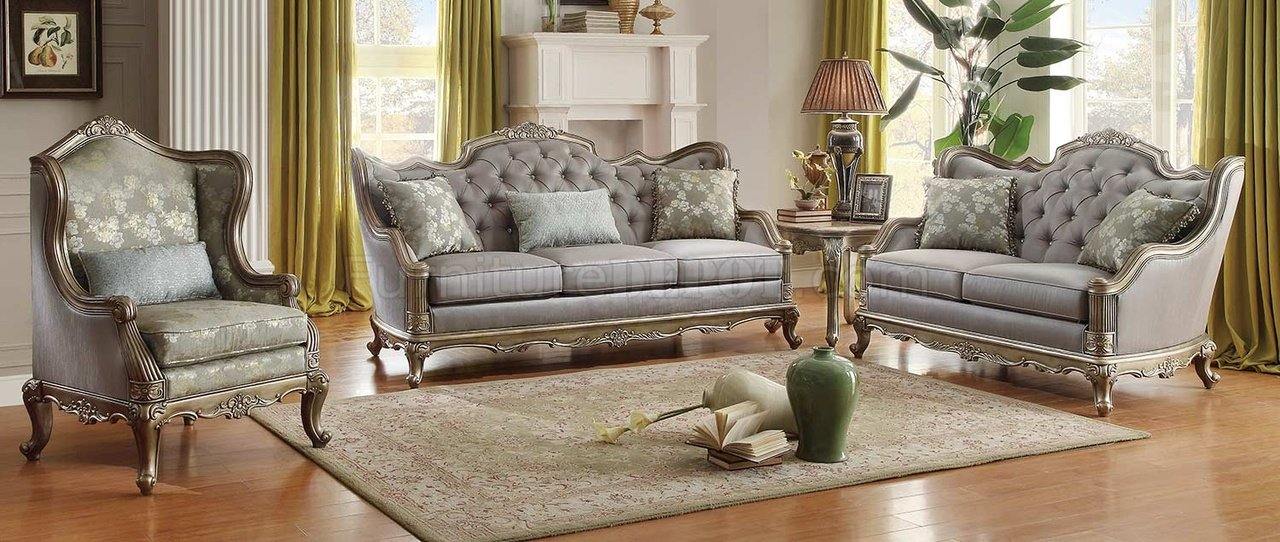 fiorella sofa taupe by homelegance