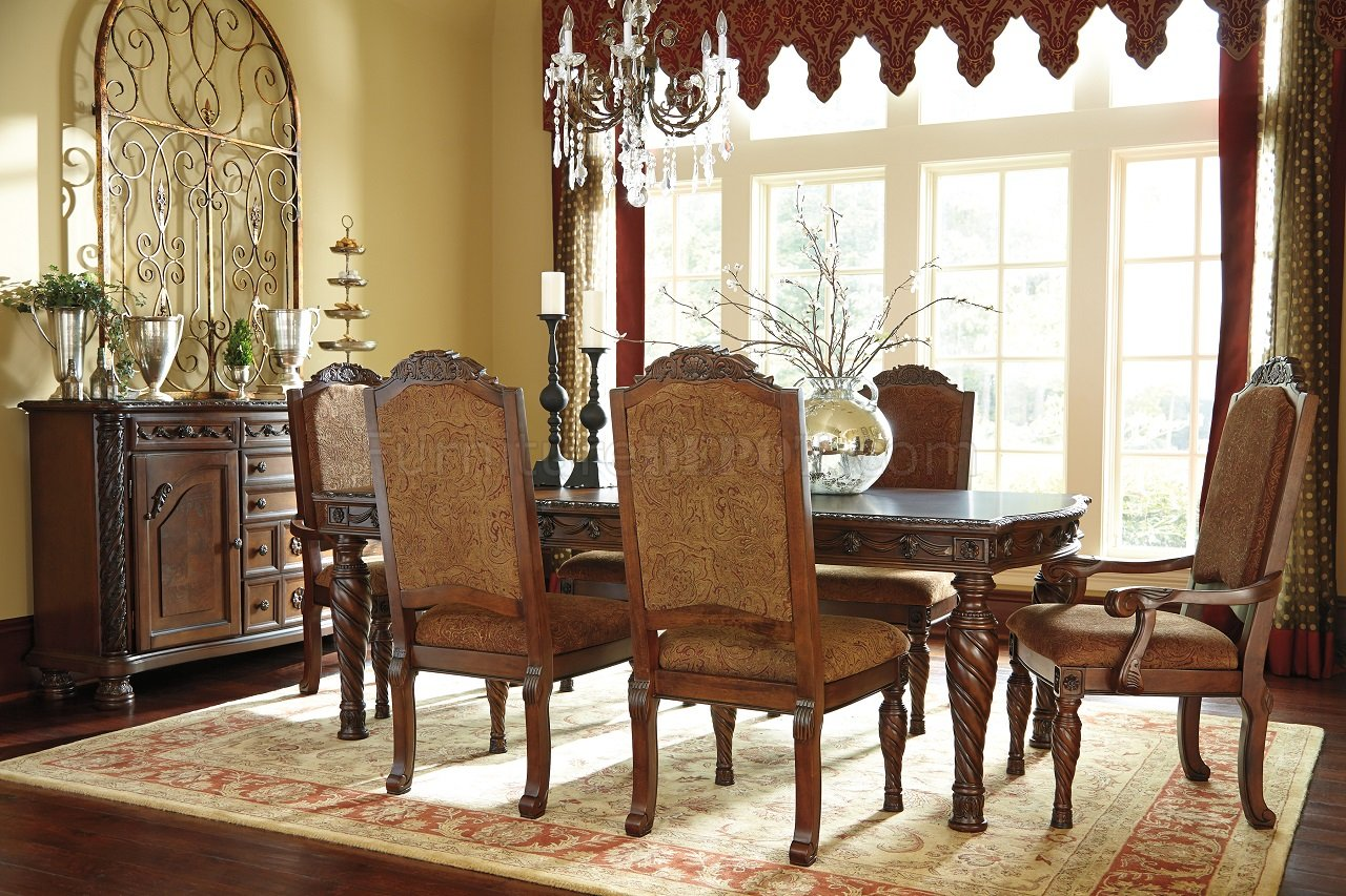 North Shore Dining Table D553 35 Dark Brown Ashley Furniture