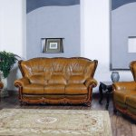 100 Sofa In Genuine Leather By Esf W Optional Loveseat Chair