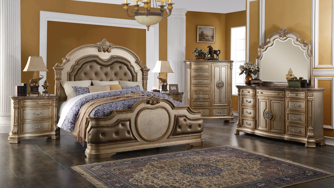 Infinity Gold Traditional 5Pc Bedroom Set WOptions