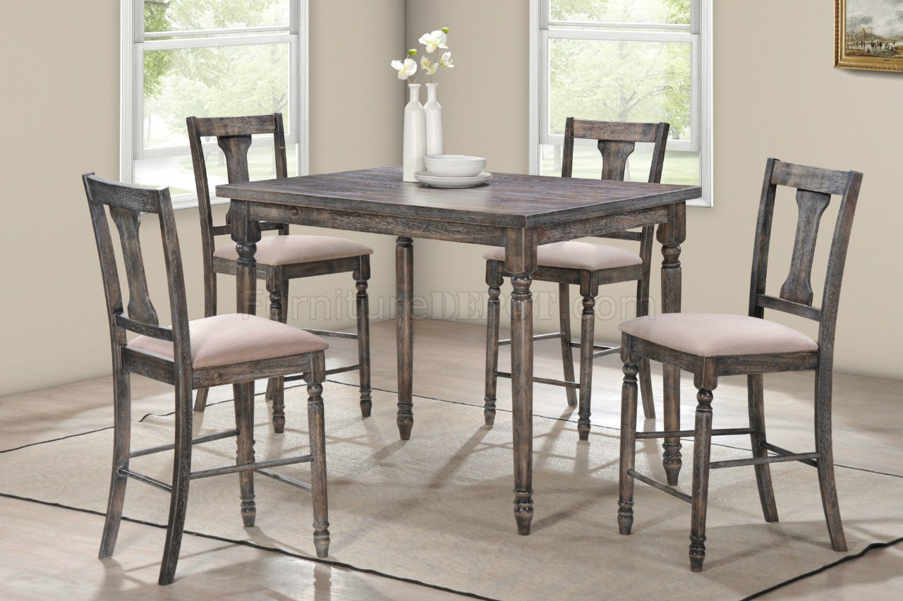 Wallace Dining Set 5Pc 71475 In Weathered Gray By Acme