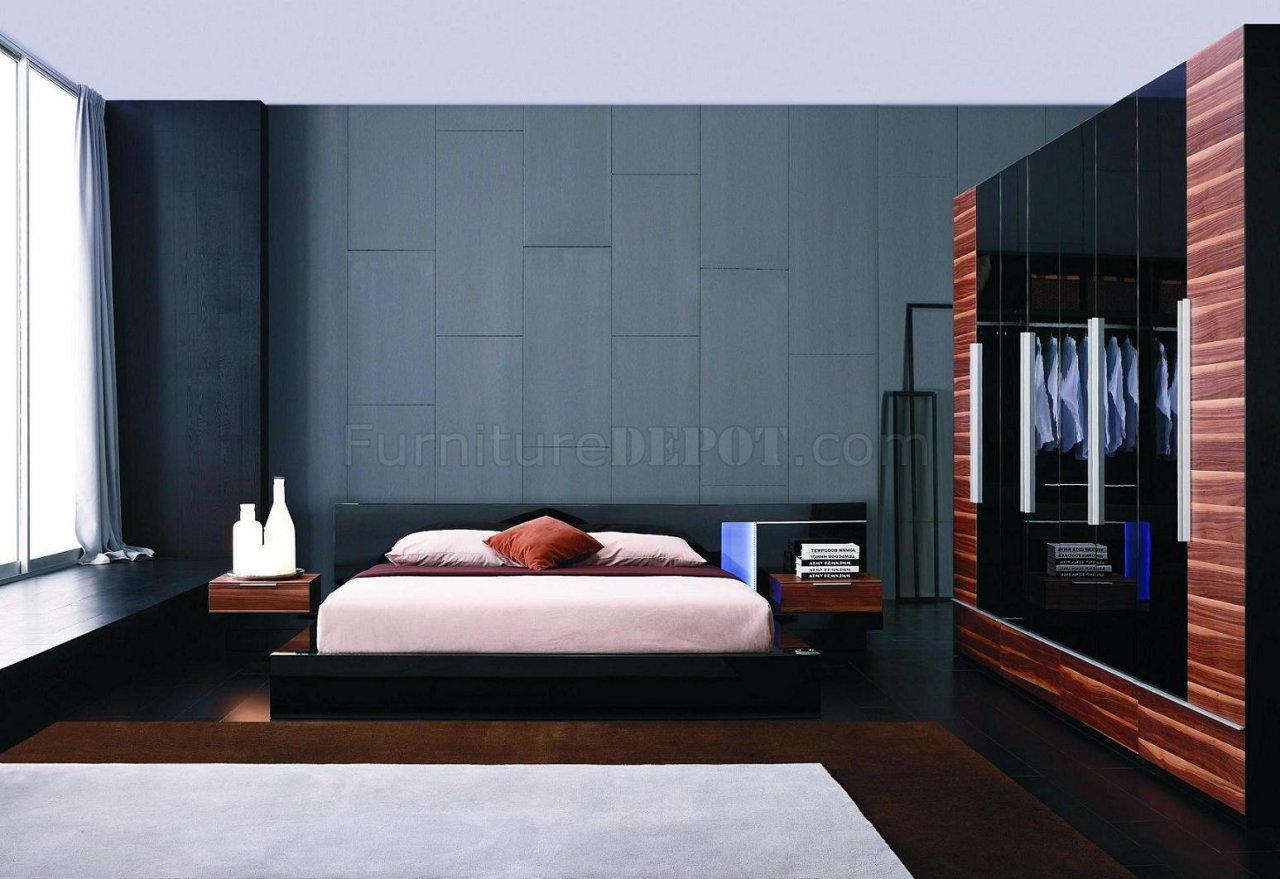 modern 5 piece bedroom set alaska black