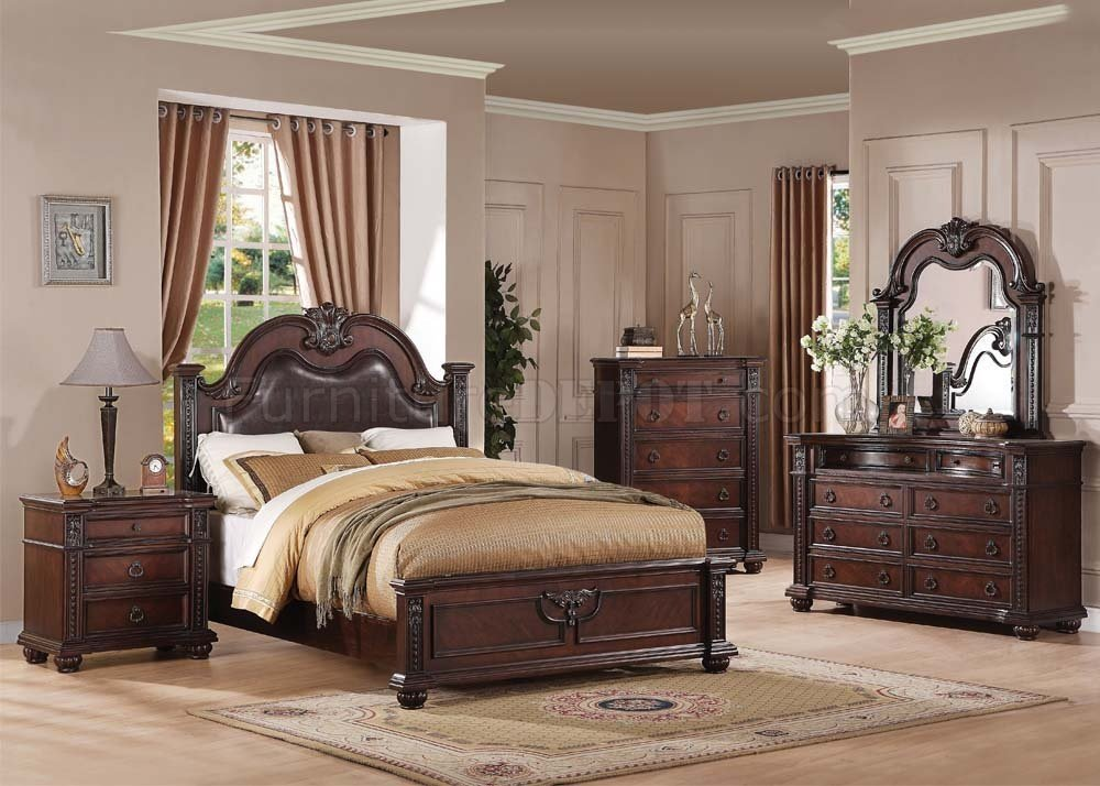 21310 Daruka Bedroom in Cherry by Acme w Optional Case Goods