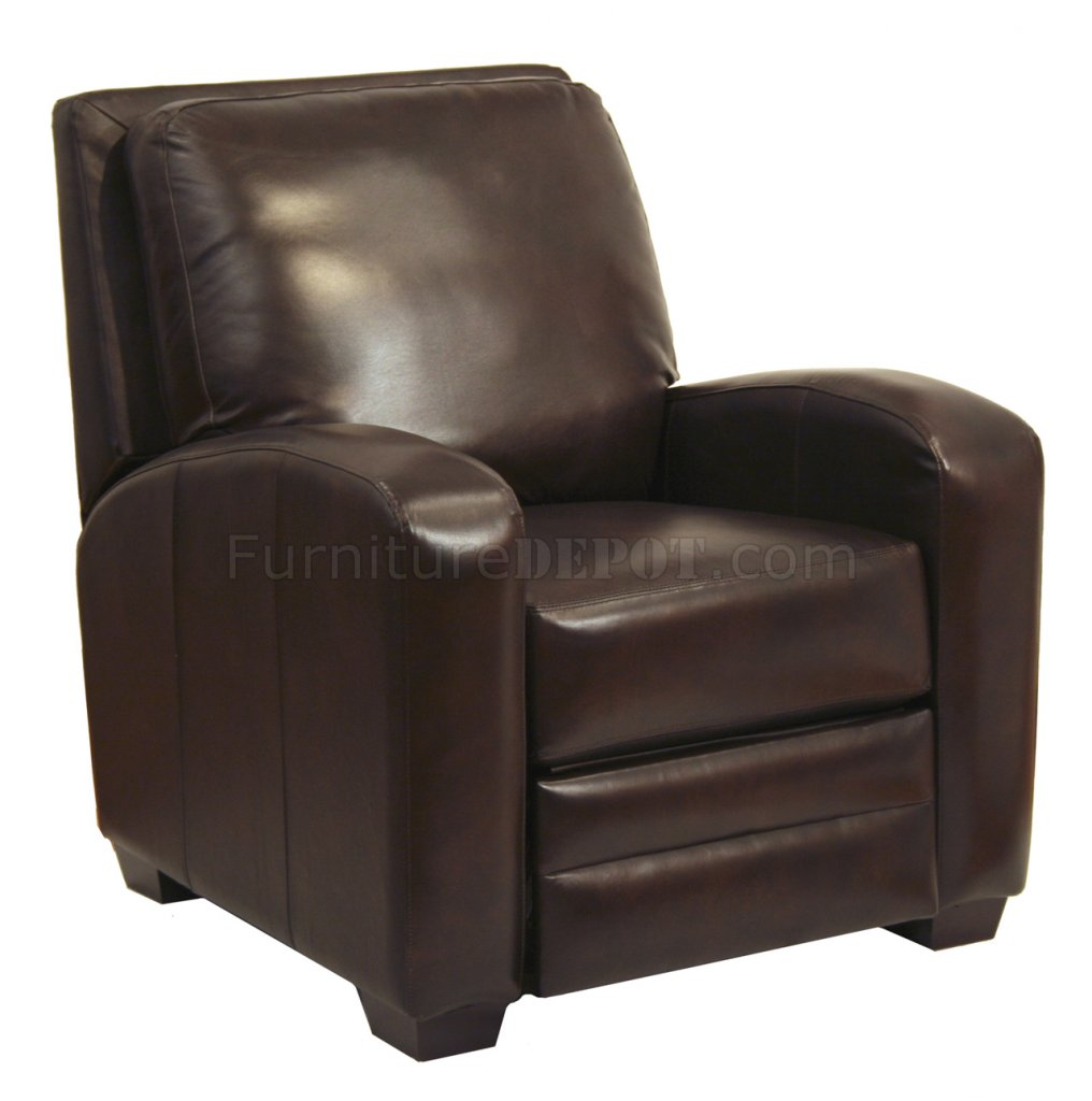 Chocolate Bonded Leather Avanti Modern Reclining Chair