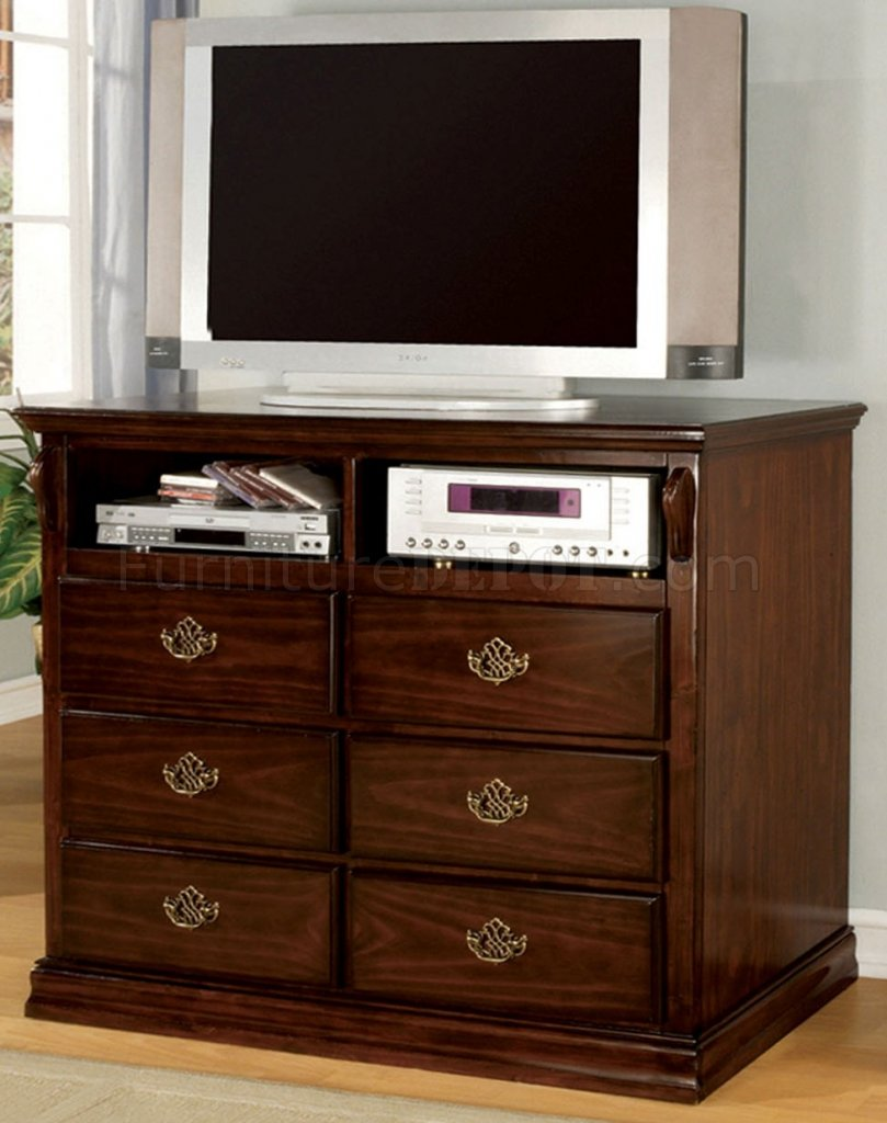 CM7571 Tuscan TV Stand In Glossy Dark Pine