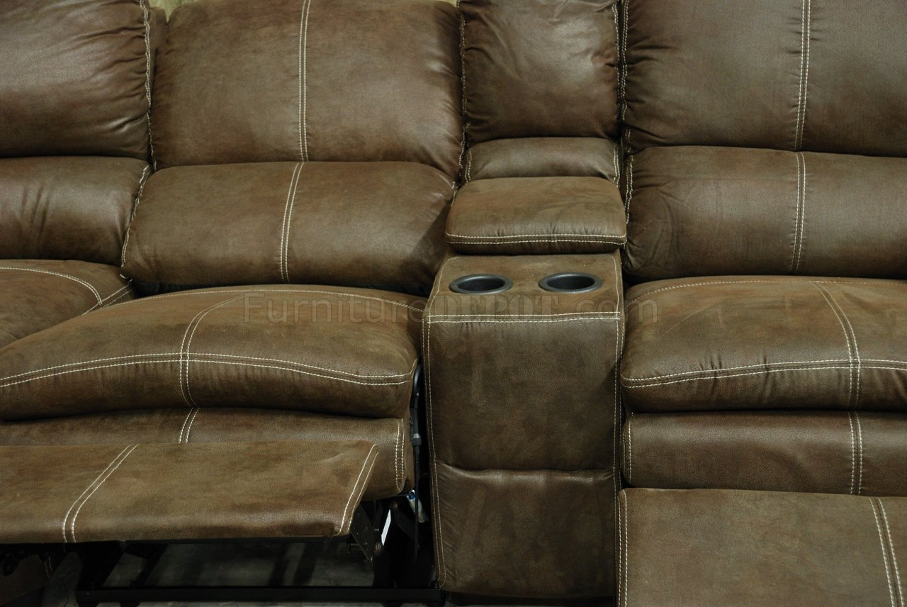 rustic brown microfiber reclining