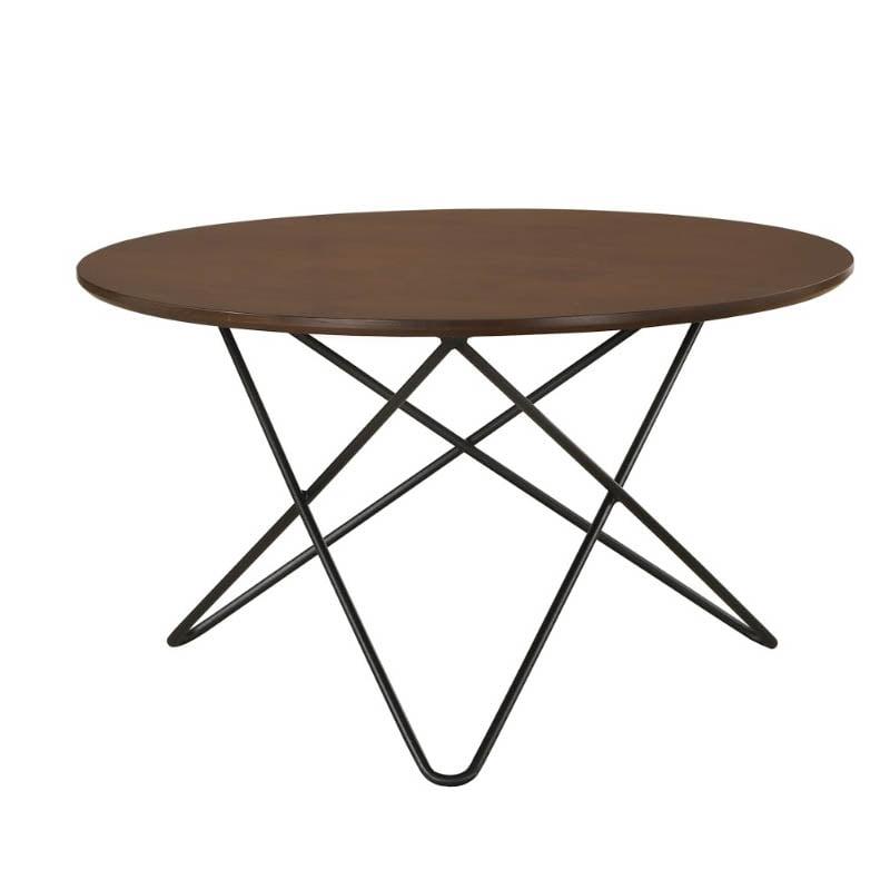 trigo solid wood coffee table with metal leg walnut