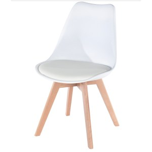 Vail Chair with Seat Pad - White