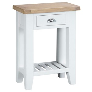 New England 1 Drawer Console - White
