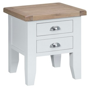 New England End Table - White