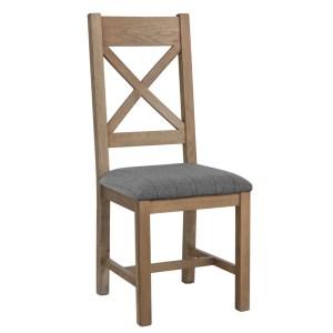 Portland Cross Back Chair grey