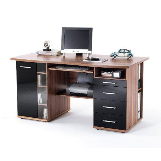Walnut Computer Desk Shop For Cheap Office Supplies And