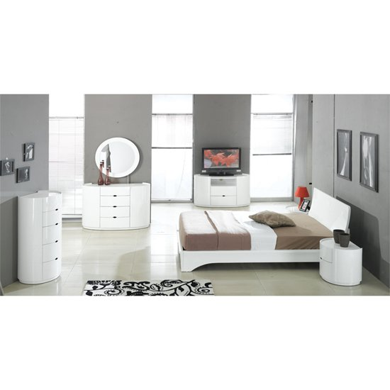 laura bedroom furniture sets in high gloss white