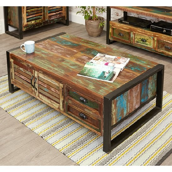 amara wooden storage coffee table with 4 doors and 4 drawers furniture in fashion
