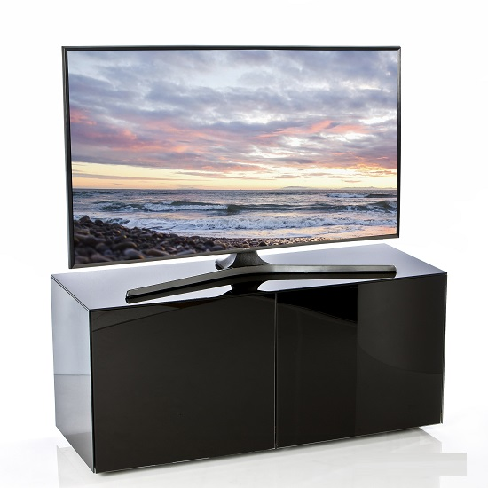 Nexus Small Tv Stand In Black High Gloss With Wireless