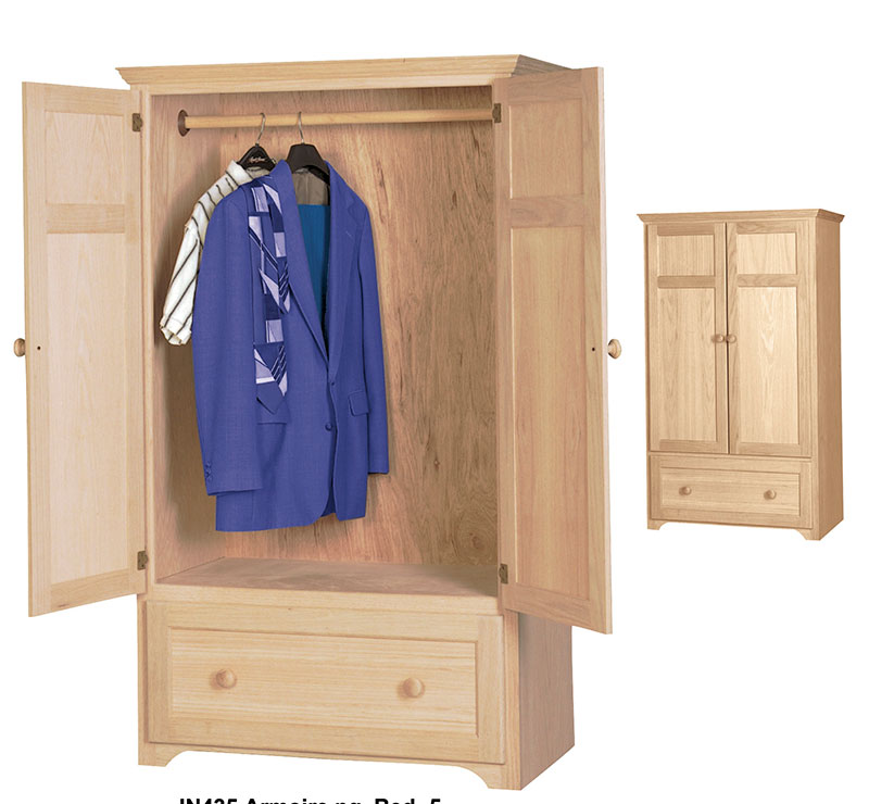 Armoire Hanging Rod And Drawers