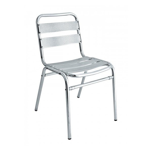 brewhouse industrial metal outdoor restaurant armless dining chair with stackable aluminum frame 9 lbs furniture leisure