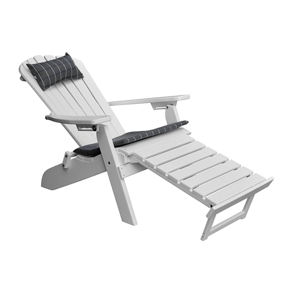recycled plastic reclining adirondack chair with pullout ottoman folding frame furniture leisure