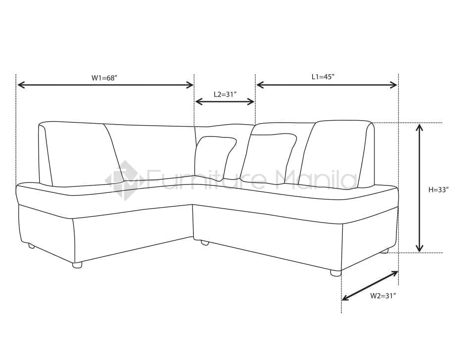 Alvin L Shaped Sofa Home Amp Office Furniture Philippines