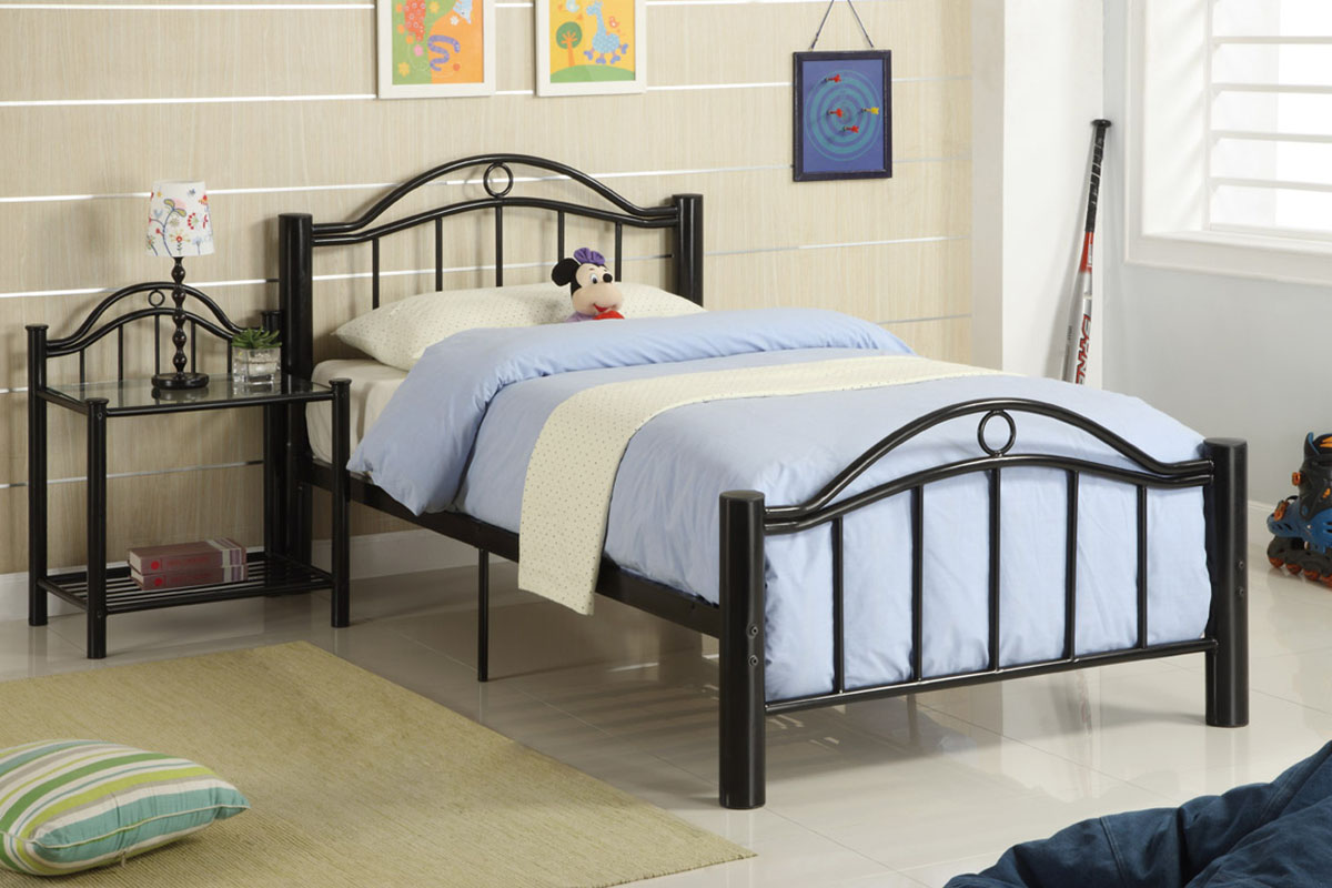 Twin Metal Bed F9010 Furniture Mattress Los Angeles And