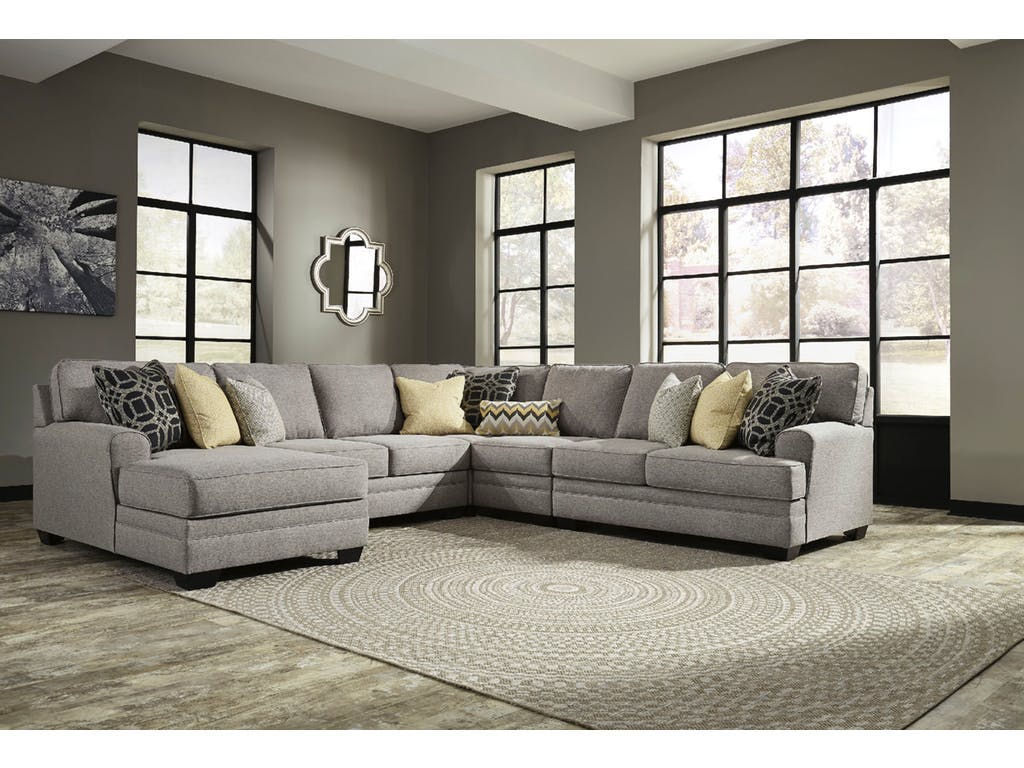 Ashley Cresson 5pc Left Arm Facing Chaise Sectional Dallas