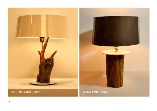 Erethia And Koka Table Lamp For Indoor Home Lamp And Interior Furniture Hotel Projects
