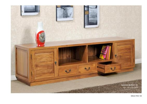 Magda Buffet TV Solid Teak Wood Furniture Wholesale