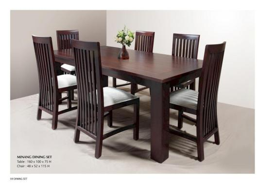 Minang Dining Set Indonesia Wooden Furniture Wholesale Factory Exporter In Java