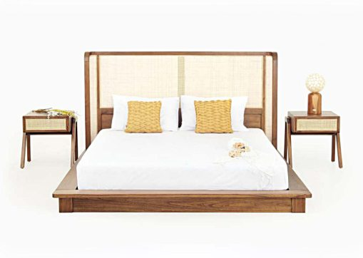 Oksana Bed Set, Indonesia bedroom furniture, indoor furniture bedroom