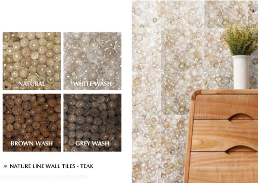 Nature Line Wall Tiles With Teak Material