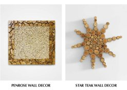 Penrose Wall Decor & Star Teak Wall Decor