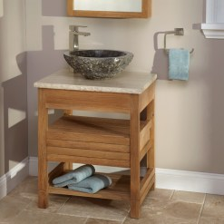 Teak Bathroom Furniture With Vanity Stone Vessel