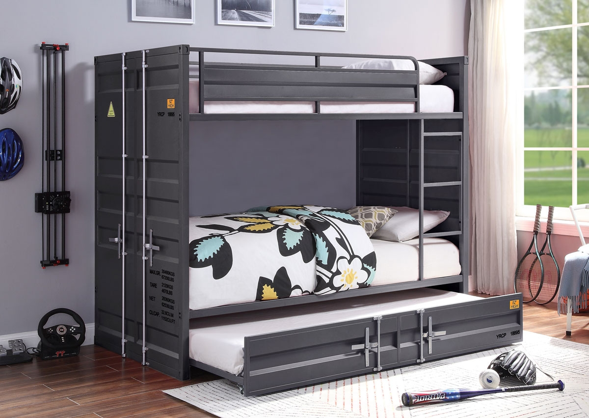 Container Gunmetal Bunkbed Industrial Style