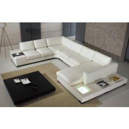 rylie modern style sectional with light