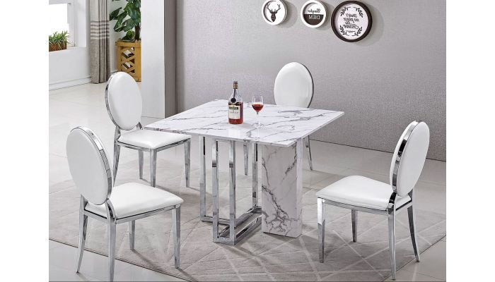 atmore square marble top dining table