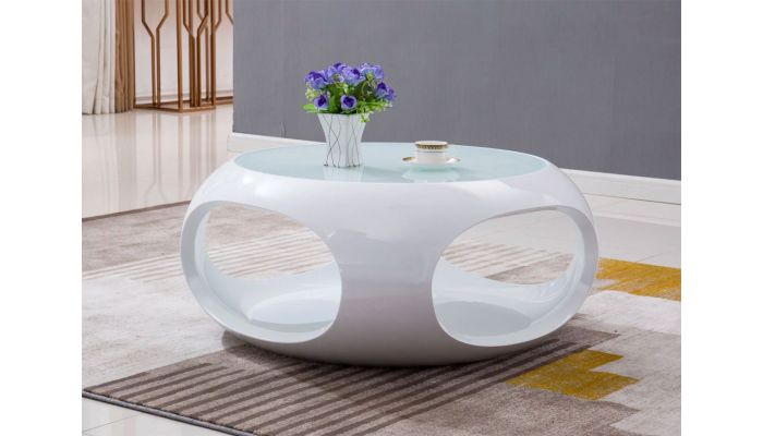 planet modern white lacquer coffee table