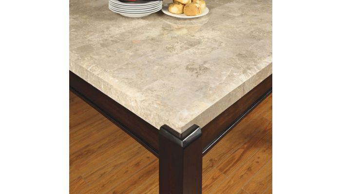 torino square marble top pub table set