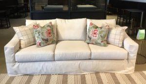 1st Klaussner_Demi slip cover sofa