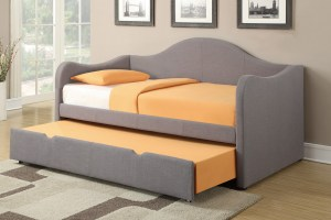 grey fabric day bed