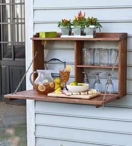 outdoor serving shelf