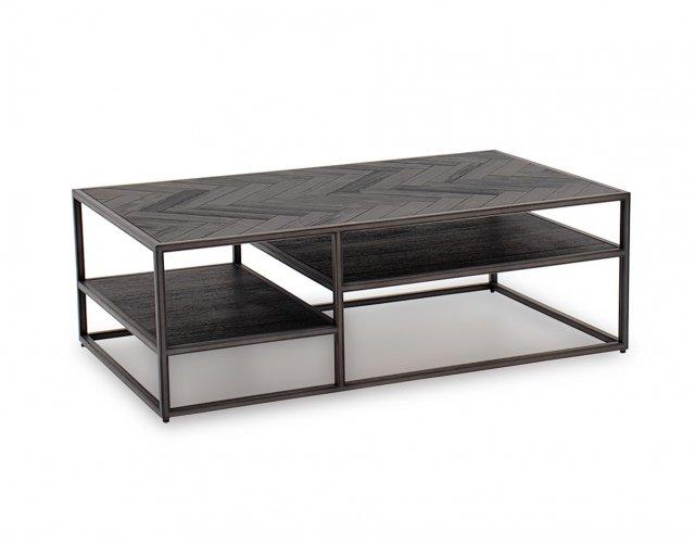 vermont coffee table in dark brown furniture world