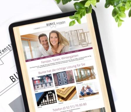 Bunte Fensterbau<br> Goldenes Handwerk dank responsive Design