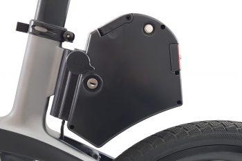 Electric folding bike removable battery
