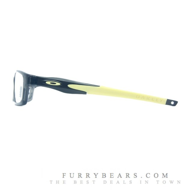 Satin Black Yellow Ear Sock Temple Oakley Crosslink