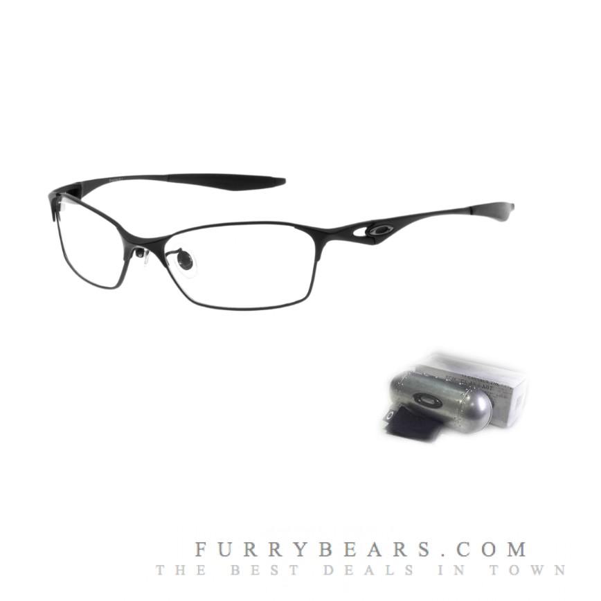 oakley prescription glasses australia npo0  Oakley Bracket 81 Matte Black Prescription Glasses