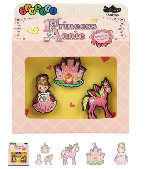 Princess Annie 3-pack Crocs Shoe Charms