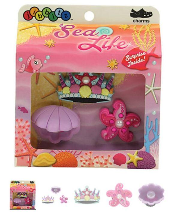 Sea Life Girls' 3-pack Crocs Shoe Charms