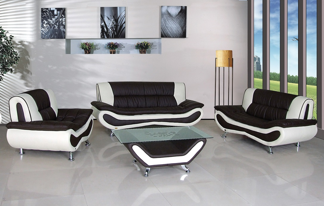 Speedy Leather Sofa Set Furtado Furniture