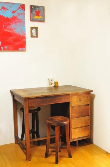 4500円で買った古道具机は自宅の作業部屋にぴったり-ふるものせいかつ図鑑