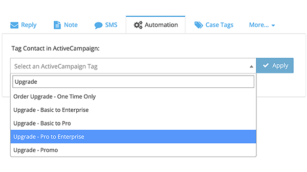 Run ActiveCampaign Automation and apply ActiveCampaign Tags right from FuseDesk